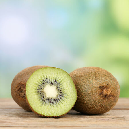 kiwis: Healthy kiwi fruit in summer with copyspace Stock Photo