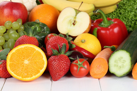 grapes and mushrooms: Fruits and vegetables like oranges, apple, tomatoes, banana, strawberry