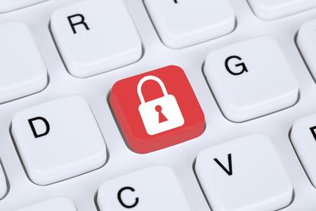Computer veiligheid op het internet slot bescherming pictogram data Stockfoto - 38605912