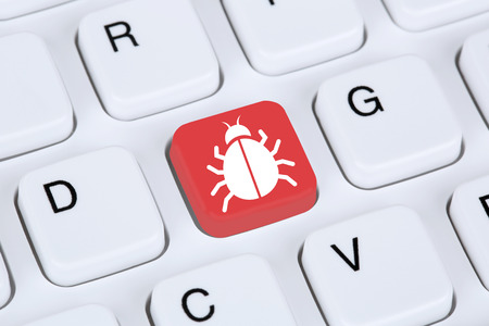 Computer virus or Trojan online network security on the internet