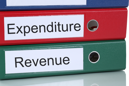 expenditure: Revenue and expenditure loss profit account finances in company business concept