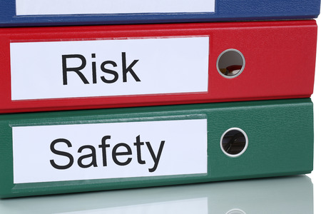 financial risk: Risk and safety management analysis assessment  in company business concept Stock Photo