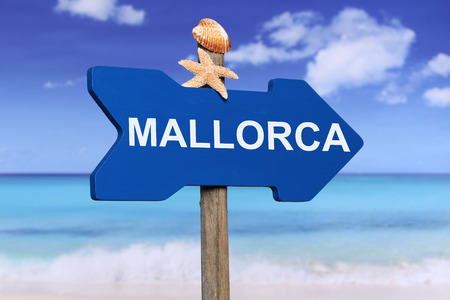 Mallorca with beach and sea in summer on vacation