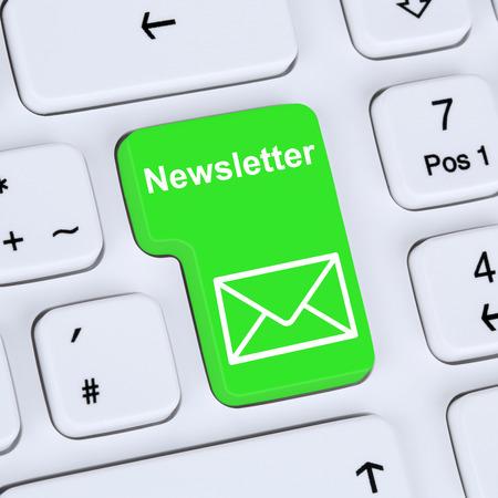 Internet concept sending newsletter for business marketing campaign with letter symbol