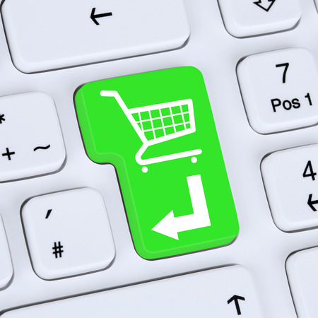 shopping order: Internet concept online shopping order e-commerce shop with shopping cart