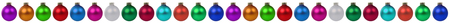 christmas ball isolated: Christmas border colorful balls baubles decoration in a row isolated on a white background Stock Photo