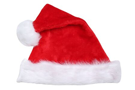 christmas deco: Santa Claus hat on Christmas isolated on a white background