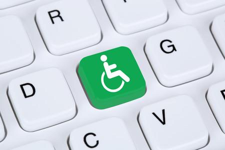 discapacitados: La accesibilidad web en línea en el ordenador sitio web de Internet para las personas con discapacidad de la desventaja