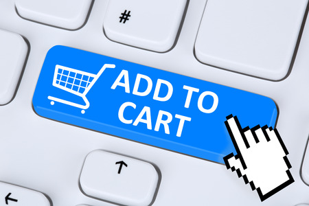 ordering: Add to cart online shopping ordering internet e-commerce shop concept
