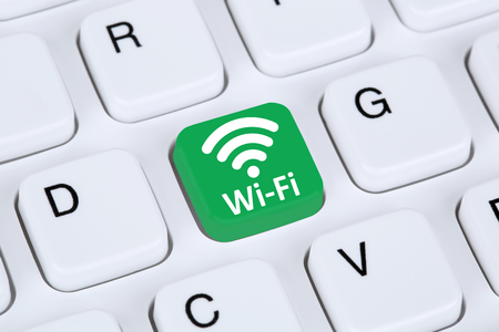 wifi: Wi-Fi or WiFi hotspot connection internet network computer