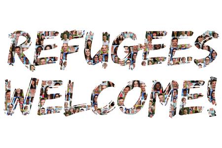bienvenidos: Refugiados grupo de acogida de jóvenes de varios pueblos étnicos aislados