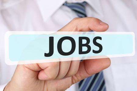 empleados trabajando: concepto de negocio hombre de negocios con puestos de trabajo, los empleados que trabajan carrera trabajo de reclutamiento