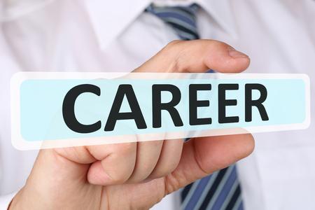 metas: concepto de negocio hombre de negocios con oportunidades de carrera objetivos de éxito y desarrollo exitoso Foto de archivo