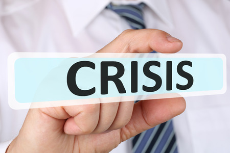 insolvency: Businessman business concept with crisis financial management depts insolvency