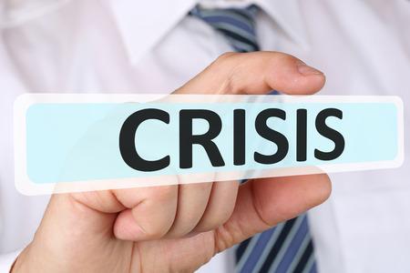 depts: Businessman business concept with crisis financial management depts insolvency