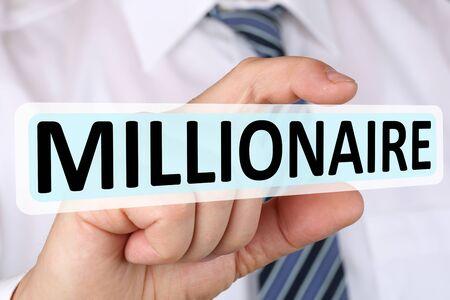 hombre millonario: businessman concepto de éxito millonario rico riqueza finanzas exitosas de liderazgo