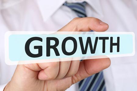 growing success: Businessman business concept with growth growing success successful strategy development manager