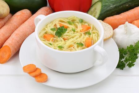 noodle soup: Noodle soup meal in cup with noodles