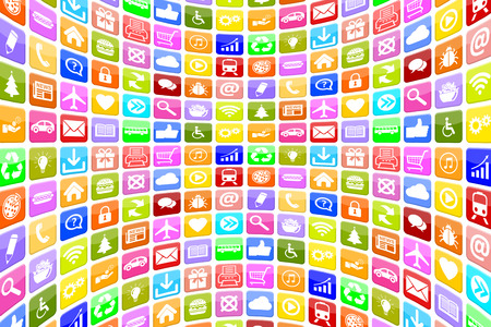 application icons: Application Apps App Icon Icons multimedia for mobile or smart phone programs background