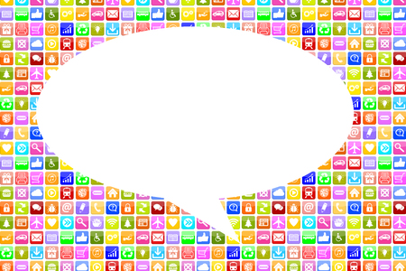 internet icons: Application Apps App social media network chat communication on mobile or smart phone