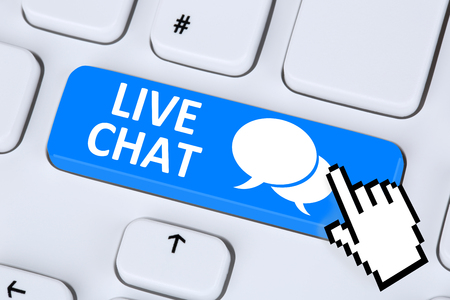 contact information: Live Chat contact communication customer service message chatting information