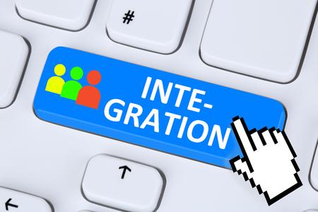outlander: Integration refugees immigration multicultural multiracial diversity on internet Stock Photo
