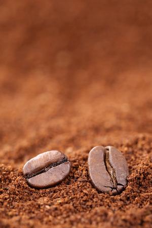 copyspace: Ground coffee beans with copyspace Arabica Espresso