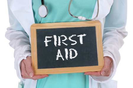 medical sign: First aid help helping cpr doctor medical accident with sign