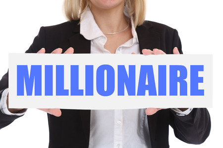 millonario: Concepto de negocio millonario rico riqueza éxito de negocios con éxito las finanzas liderazgo