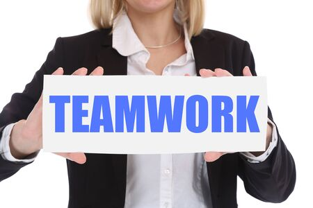 company person: Businesswoman business concept with teamwork work working together in a team
