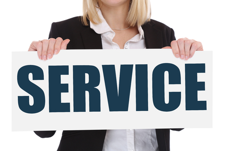 business help: Customer service support help assistance contact business concept advice Stock Photo