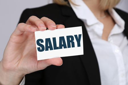 Salary increase negotiation wages money finance business concept boss employee Stock Photo