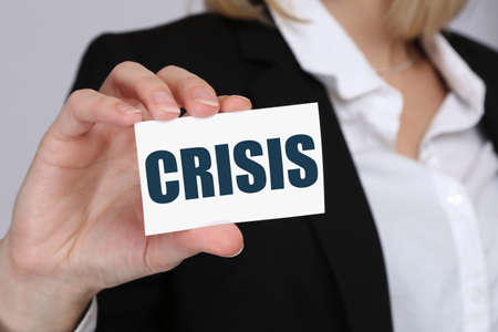 depts: Crisis financial banking management depts business concept insolvency Stock Photo