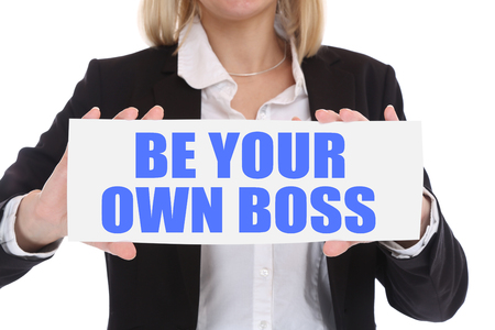 Self-employed self employed employment be your own boss business concept in office