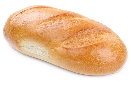 El pan blanco aislado en un fondo blanco panadería