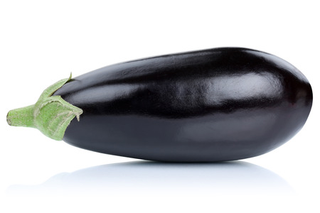 Eggplant aubergine isolated on a white background