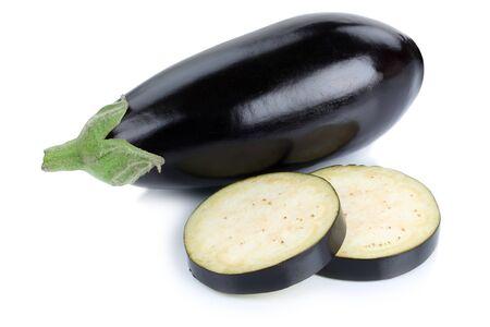 Eggplant aubergine vegetable isolated on a white background