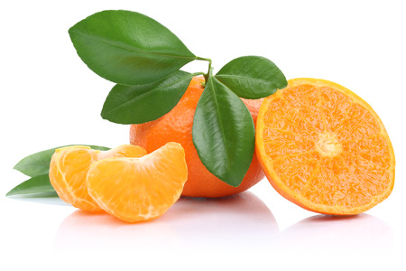 mandarin oranges: Mandarin orange mandarins fruits tangerine tangerines isolated on a white background