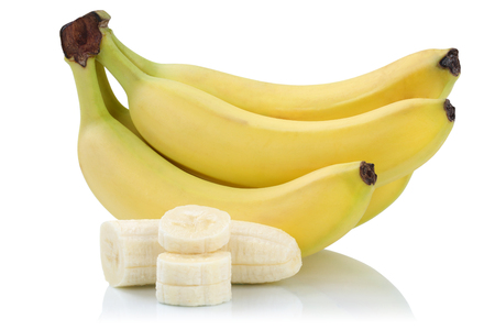 Bananas banana slices fruits isolated on a white background