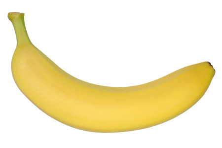 banana: Banana fruit top view isolated on a white background Stock Photo
