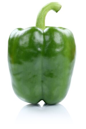 Green paprika side view vegetable isolated on a white background