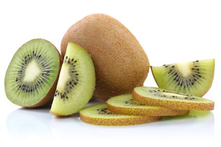 kiwis: Kiwi fruit kiwis fruits sliced isolated on a white background