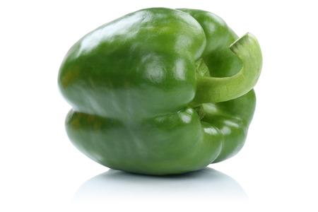 pimenton: Vehículo verde pimentón aislado en un fondo blanco