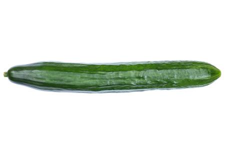 Komkommergroente bovenaanzicht geïsoleerd op een witte achtergrond Stockfoto