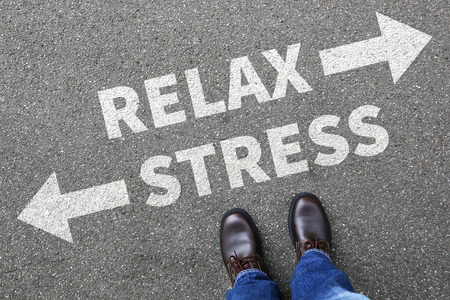destress: Stress stressed and relax relaxed health businessman business man concept pressure in job