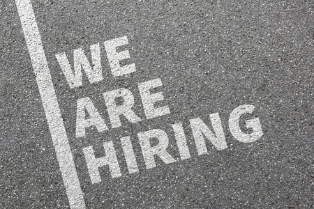 empleados trabajando: Estamos contratando trabajos, trabajo de contratación laboral de los empleados concepto de negocio emplyment carrera