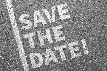 date: Speichern Sie das Datum Einladungsnachricht Informationen Business-Konzept einladen