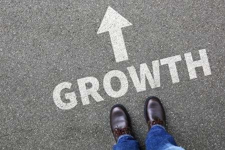 growing success: Businessman business man concept with growth growing success successful finances