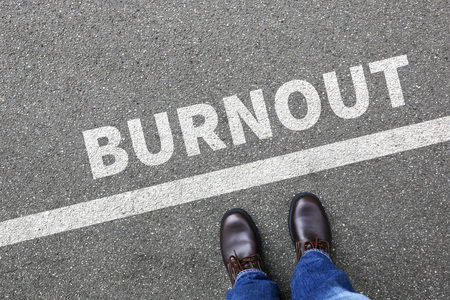 burnout: Burnout ill illness stress stressed at work businessman business man concept overworked