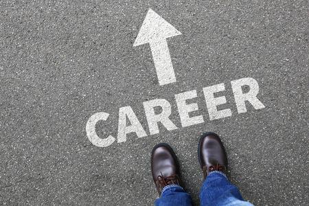 career development: Career opportunities goals success successful and development businessman business man concept